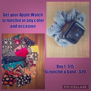 Apple Watch scrunchie bands etc.